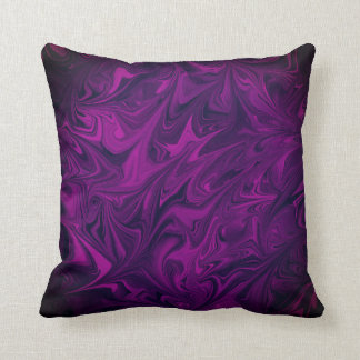 Magenta dark fuchsia Marbled Pattern Art Pillow