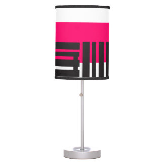 Magenta Decorative lamp Lines Black