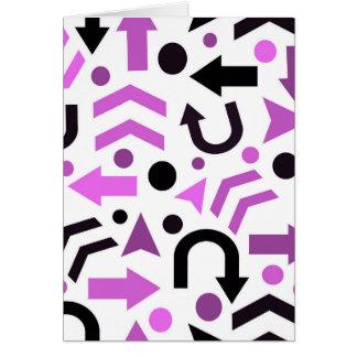 Magenta direction pattern card