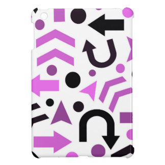 Magenta direction pattern cover for the iPad mini