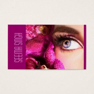 Magenta Eyes flowers Business Card