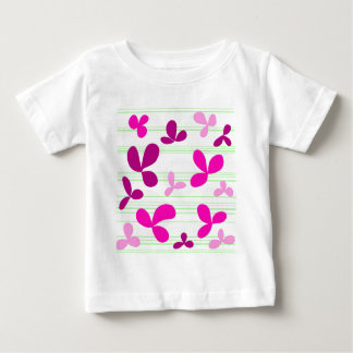 Magenta floral pattern baby T-Shirt