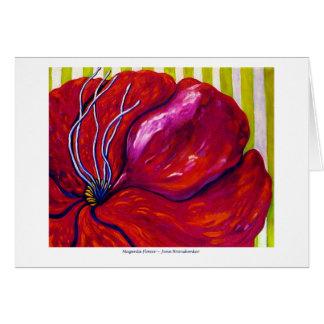 Magenta Flower GREETING CARD
