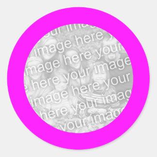 Magenta Frame Sticker
