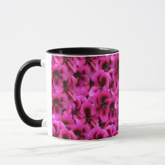 Magenta Geranium Flower Combo Coffee Mug