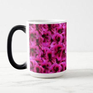 Magenta Geranium Flower Magic Morph Coffee Mug