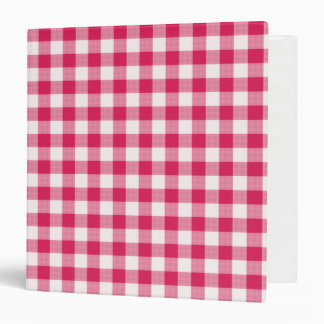 magenta gingham notebook 3 ring binder