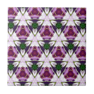 Magenta Green Burgandy Geomettic Chic Pattern Tiles