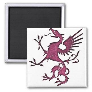 Magenta Griffon (Eagle Lion) Magnet