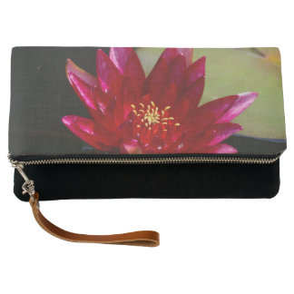 Magenta Lotus Waterlily Clutch