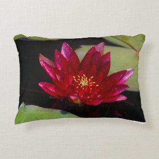 Magenta Lotus Waterlily Decorative Pillow