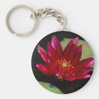 Magenta Lotus Waterlily Keychain