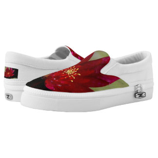 Magenta Lotus Waterlily Slip On Shoes
