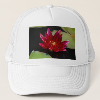 Magenta Lotus Waterlily Trucker Hat