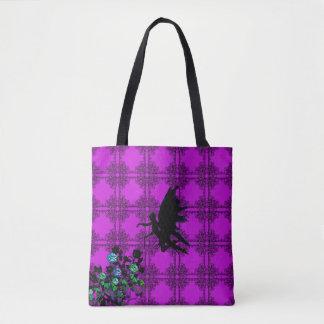 Magenta Magical Fairy Tote Bag