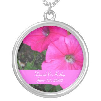 Magenta Morning Glory Flower Necklace
