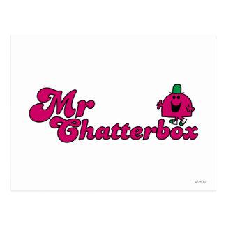 Magenta Mr. Chatterbox Logo Postcard