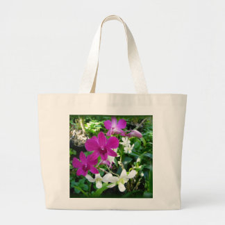 Magenta Orchids Large Tote Bag