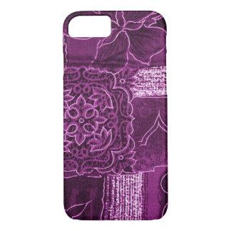 MAGENTA PATCHWORK iPhone 7 CASE