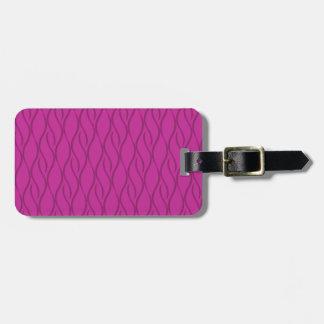 Magenta pattern luggage tag
