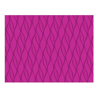 Magenta pattern postcard