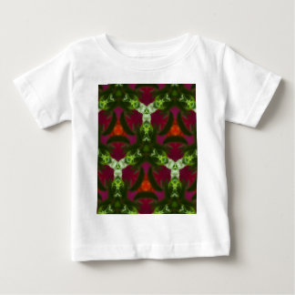 Magenta Peach Green Kaleidoscope Pattern Baby T-Shirt