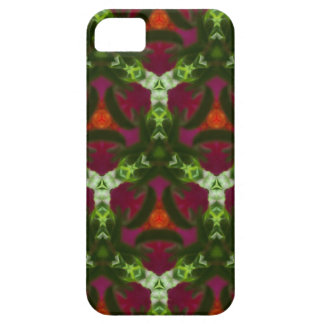 Magenta Peach Green Kaleidoscope Pattern Case For The iPhone 5