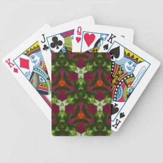 Magenta Peach Green Kaleidoscope Pattern Poker Deck