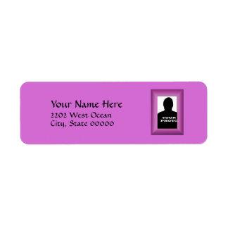 Magenta Photo Frame Template Return Address Return Address Label
