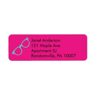 Magenta Pink and Bright Blue Retro Glasses