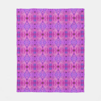 Magenta Pink and Purple Abstract Fleece Blanket
