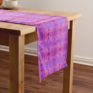 Magenta Pink and Purple Abstract Medium Table Runner