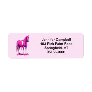 Magenta Pink Dripping Wet Paint Horse