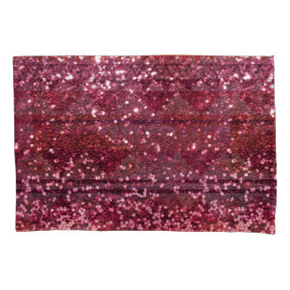 Magenta Pink Faux Glitter All Over Print Pillowcase