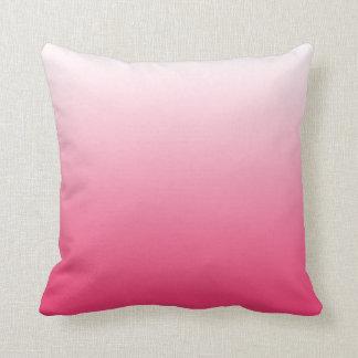 Magenta Pink Gradient Ombre Throw Pillow