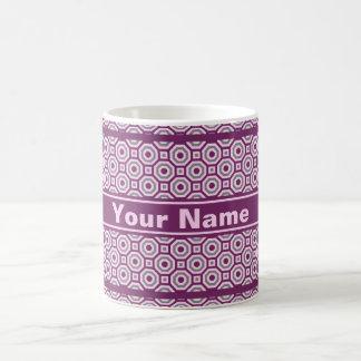 Magenta-Pink-Gray Nested Octagon Mug