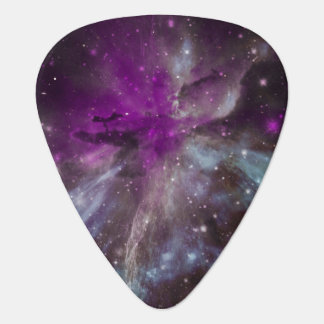 Magenta Pink Nebula (Personalized) Guitar Pick