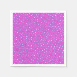Magenta Pink Purple Circular Pattern, Disposable Napkins