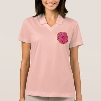 MAGENTA POINSETTIA Design Polo Shirt