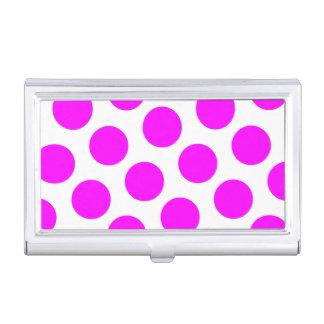 Magenta Polka Dots Business Card Holder