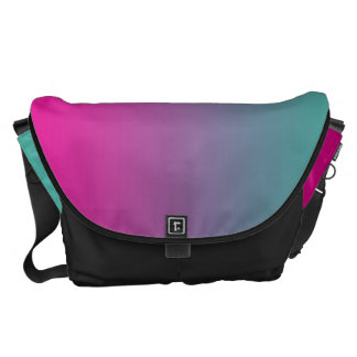 Magenta Purple And Teal Large Commuter Bag