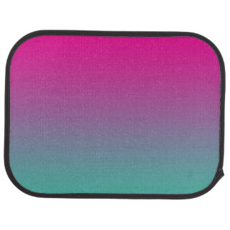 """Magenta Purple And Teal Ombre"" Car Liners"