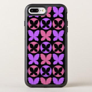 Magenta Purple Black Butterflies Butterfly Pattern OtterBox Symmetry iPhone 8 Plus/7 Plus Case