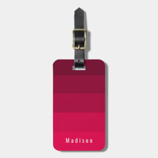 Magenta Red Pink Hues Personalized Custom ID Luggage Tag