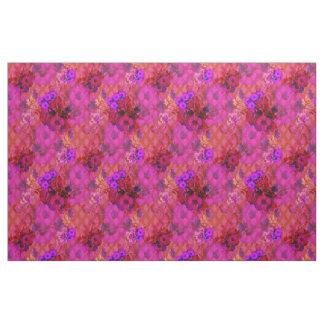 magenta retro floral fabric