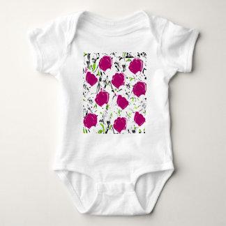 Magenta roses baby bodysuit