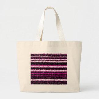 Magenta simple design large tote bag