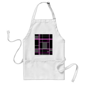 Magenta simple lines standard apron