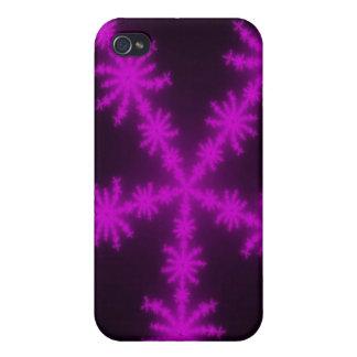 Magenta Snowflakes Fractal  iPhone 4/4S Case