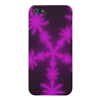 Magenta Snowflakes Fractal iPhone 5 iPhone 5/5S Case